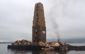 Video - World's tallest bonfire burnt to the ground in Norway