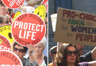 Abortion groups meeting at city marches averted