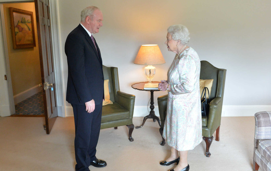 Martin McGuinness and Queen Elizabeth meet at Hillsborough