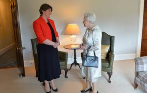 Martin McGuinness and Queen Elizabeth meet at Hillsborough