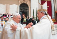Pope Francis given seal of approval by predecessor Benedict XVI in Vatican ceremony