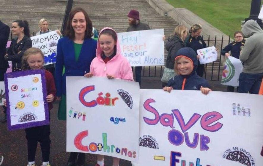 Irish language schools protest cuts to 'nurture unit' scheme