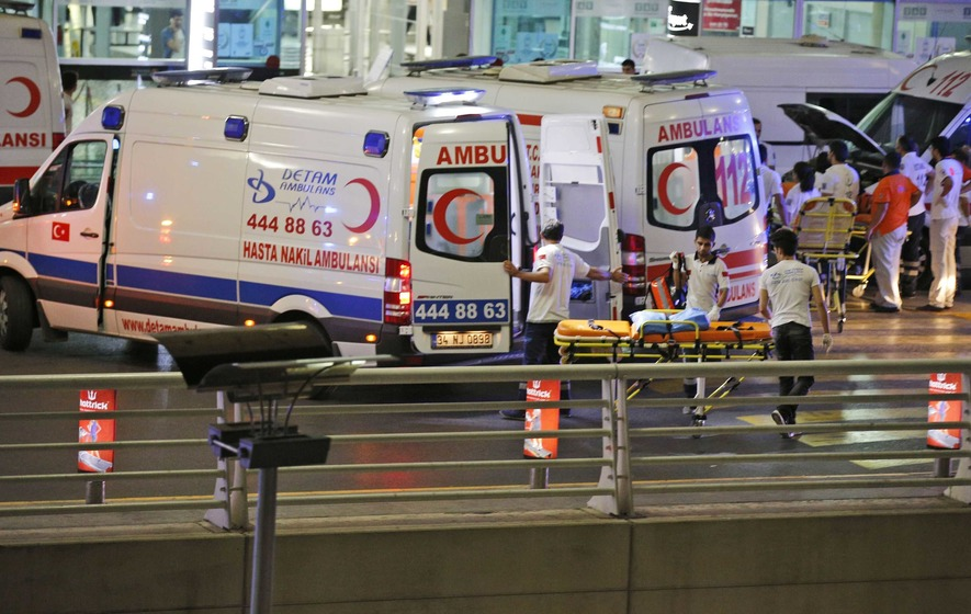 28 people killed and dozens hurt in two blasts at Istanbul Airport