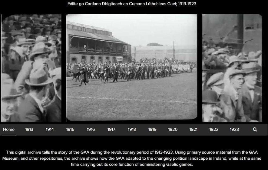 GAA launches digital archive to mark centenary of 1916 Easter Rising
