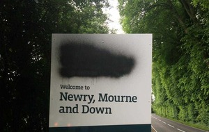 Irish language council signs defaced in Co Down
