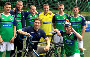 Northern Ireland fan who cycled across France during Euro 2016 raised £3,000 for homeless