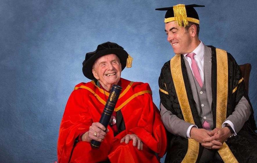 Ivan Cooper 'overwhelmed' by university honour from James Nesbitt who played him in film