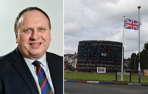 Former UUP MLA blames Irish News for tyres on bonfire