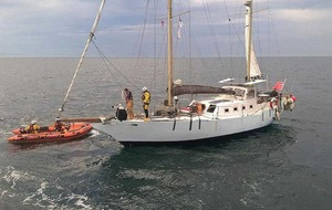 Four people rescued after yacht engine fails off Co Antrim coast