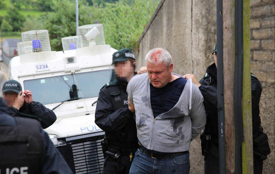 Video: Independent councillor Padraig McShane arrested at Ballycastle march