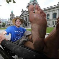 Mayo man's barefoot walk around Ireland