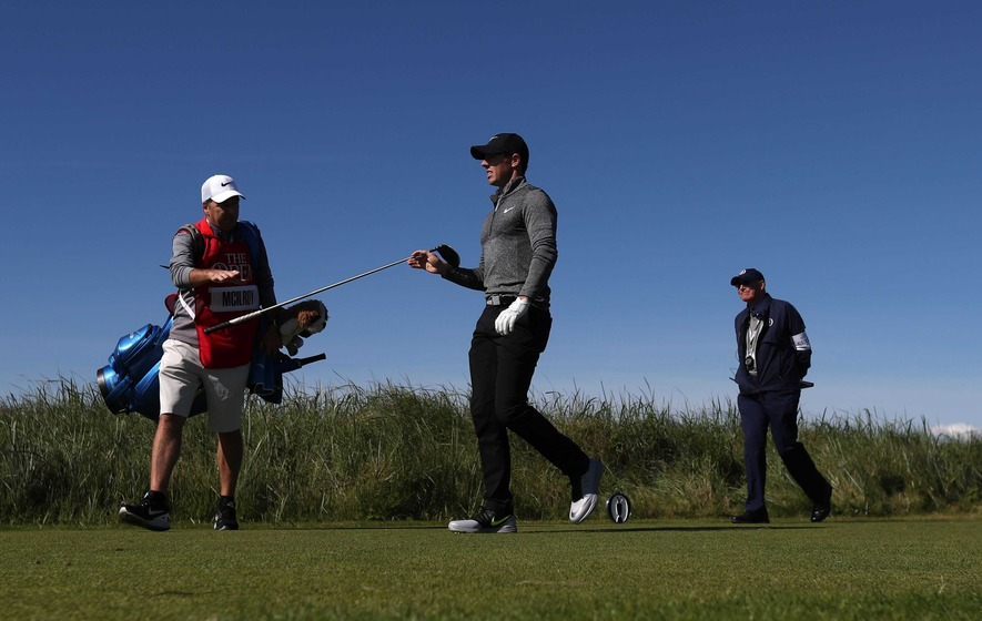 Rory McIlroy breaks club after awful shot at British Open