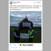 'No funding, no surrender' bonfire did apply for funding