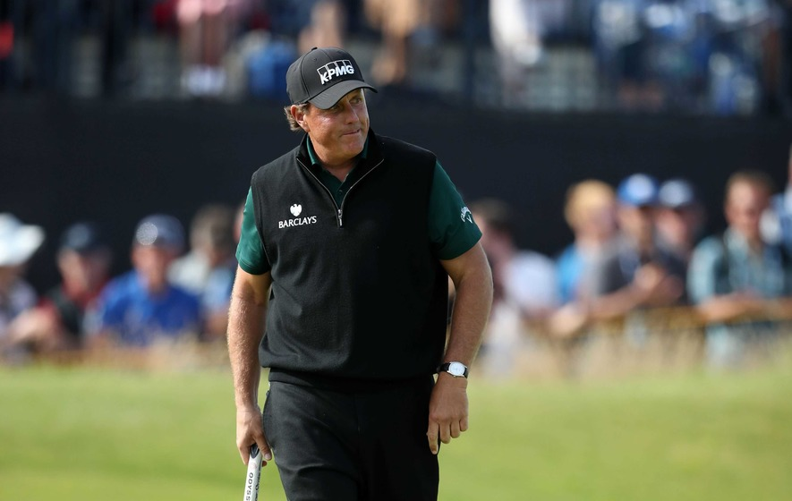 Emotional Phil Mickelson post record-breaking opening round