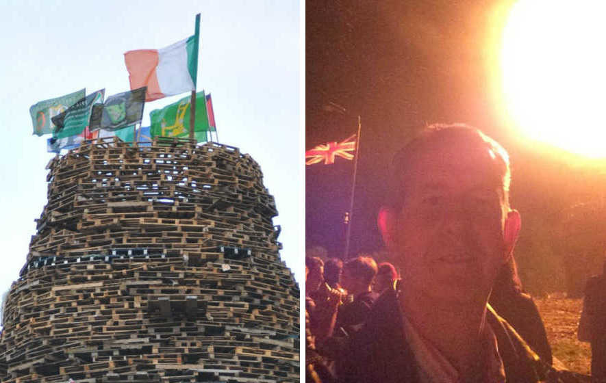 DUP's Edwin Poots 'couldn't care less' about bonfire criticism
