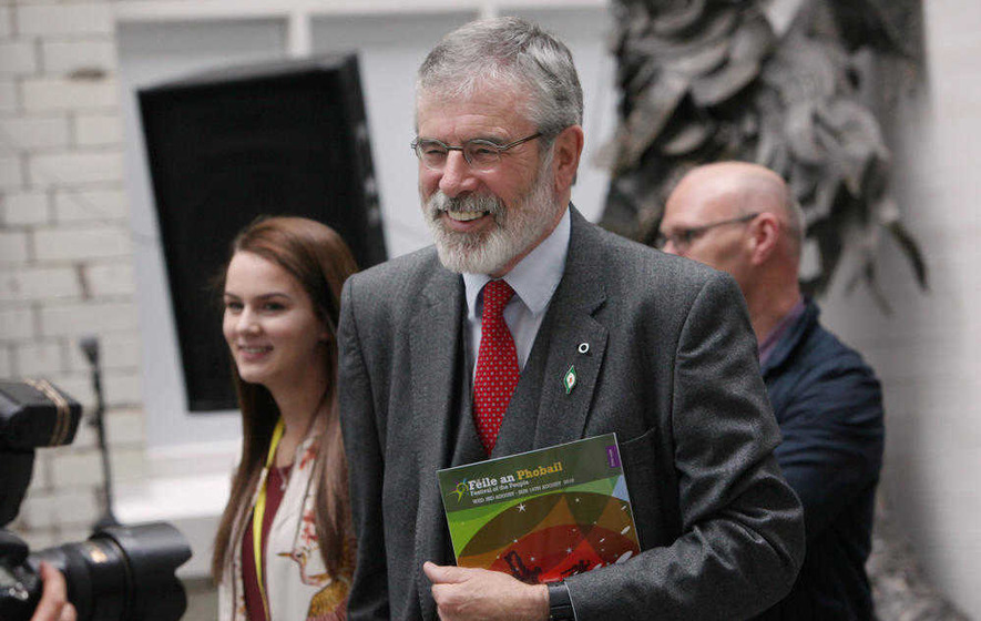 Gerry Adams will be allowed to choose his time to go