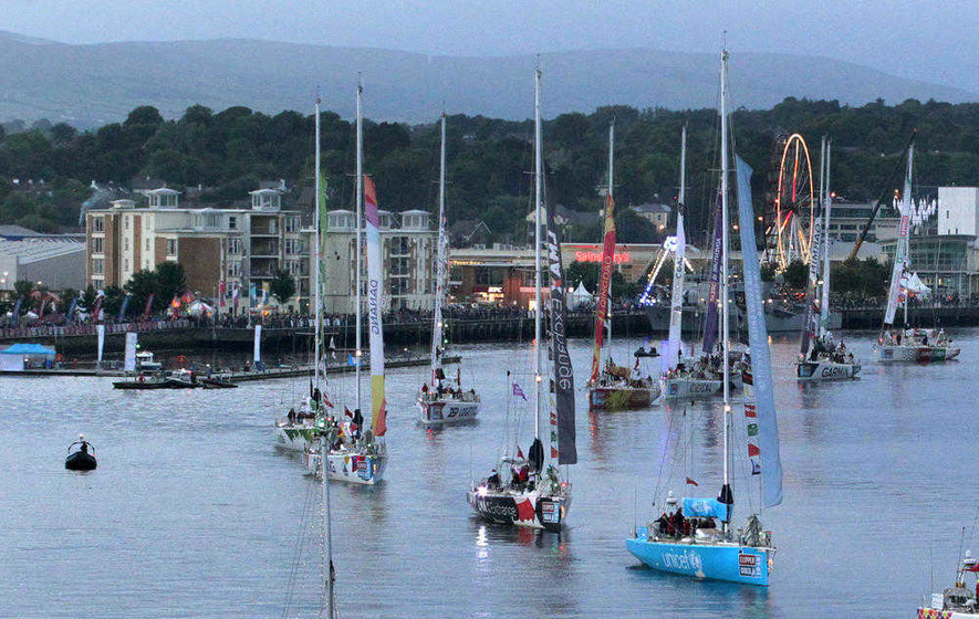 derry crowds wave goodbye to clipper race fleet the