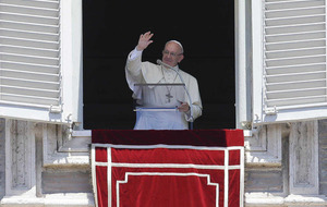 Pope prays for the end of `terror and death' of innocents