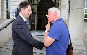 Public bemusement greets James Brokenshire on his first engagement in Belfast