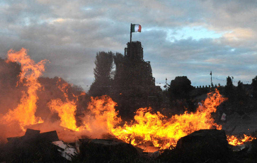 PSNI logs 40 reports of incidents at Twelfth bonfires