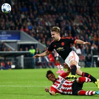 Man United's Luke Shaw vows to regain fitness after horror injury