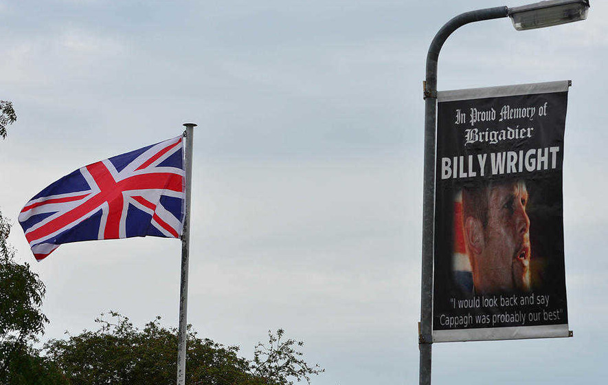PSNI say Billy Wright banner 'hate incident' but not 'hate crime'