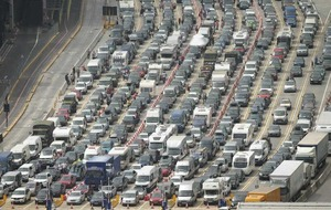 Lengthy queues at Dover port expected to last until Monday