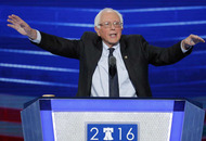 Bernie Sanders gives backing to Hillary Clinton at Democrat convention