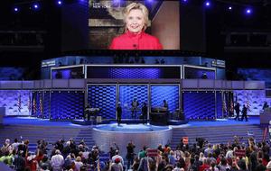 Hillary Clinton wins historic presidential nomination