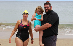 Woman is first to swim north coast stretch in 90 years