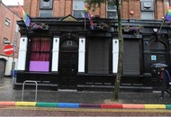 Kerbstones painted in rainbow colours ahead of Belfast Pride