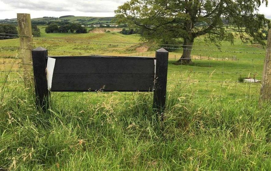 Irish language road signs damaged