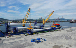Wind turbine assembly in Belfast Harbour creates 100 jobs