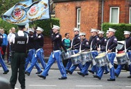 Loyalists flout rules in Belfast march glorifying UDA killers