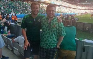 Hurt Northern Ireland football fan 'hopes to be kicking a ball around soon'