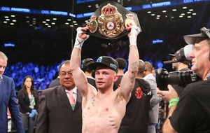 Carl Frampton wins WBA Super World Featherweight title on historic night in New York