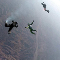 Skydiver makes historic leap without parachute into net