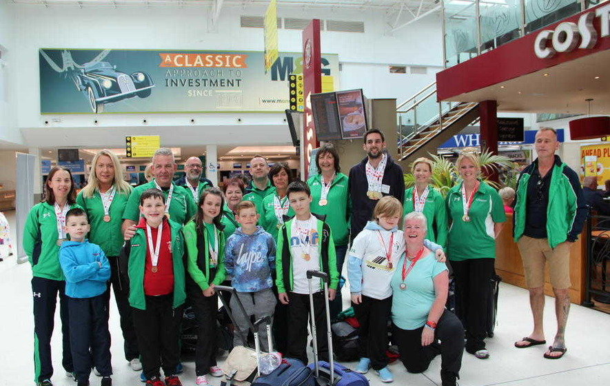 Transplant Games athletes return home to Northern Ireland