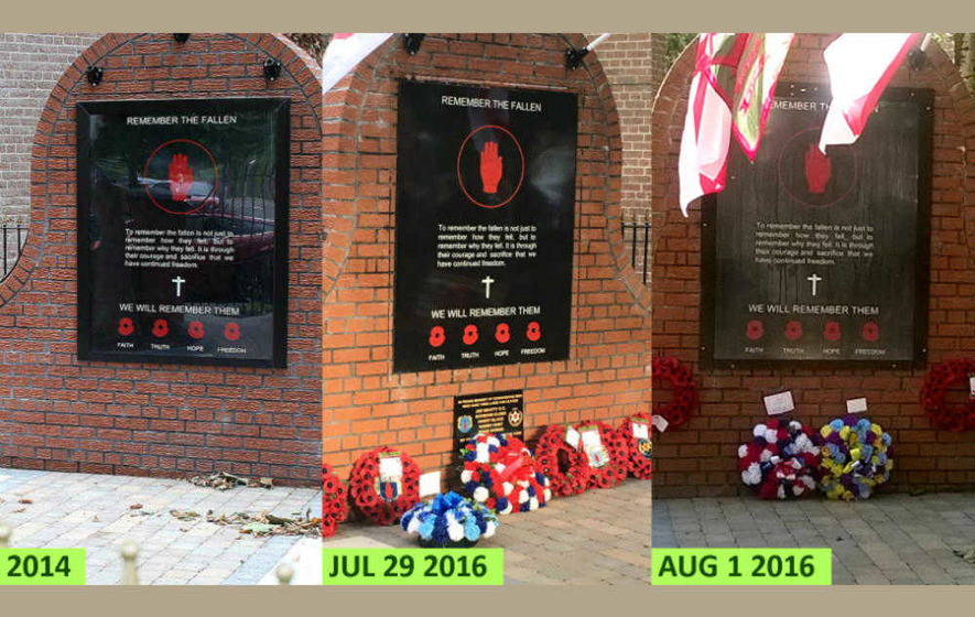 Housing Executive unaware memorial tampered with ahead of UDA march