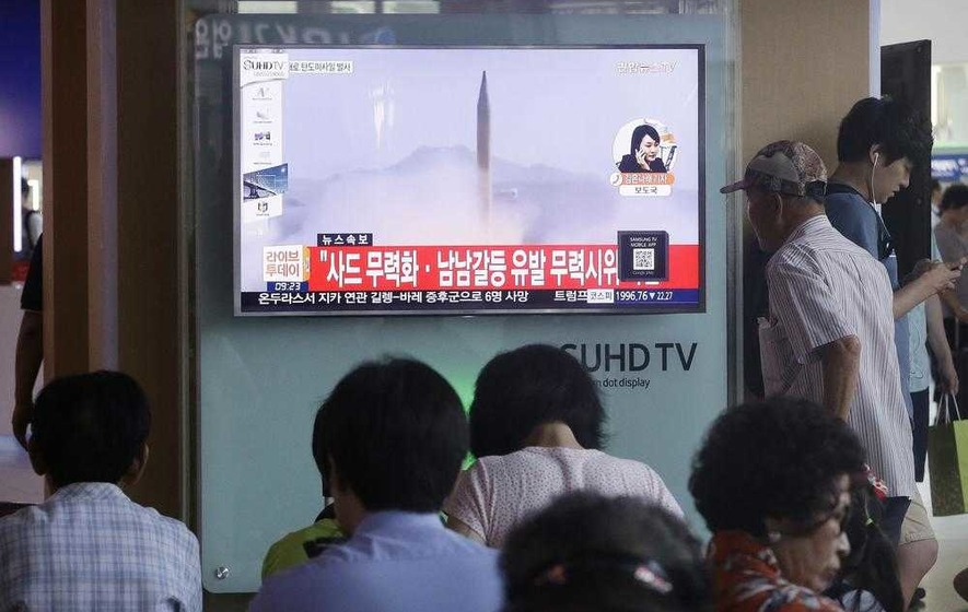 North Korean missile lands in Japanese waters