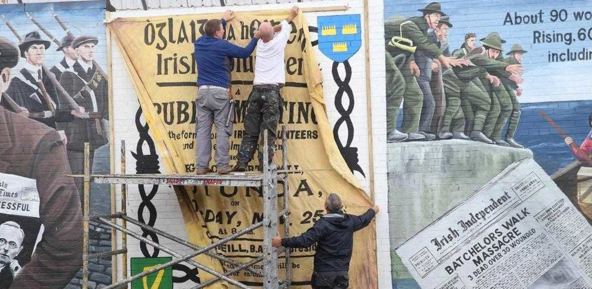Belfast story of the easter rising unveiled at for Easter rising mural