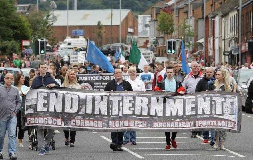 Anti-internment parade to march until 'physically stopped'