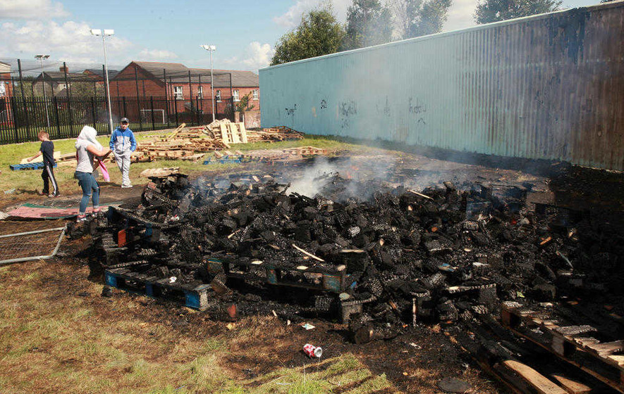Sinn Féin speak out after tyres put on anti-internment bonfire