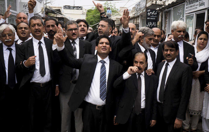 Pakistan lawyers mourn colleagues killed in suicide blast