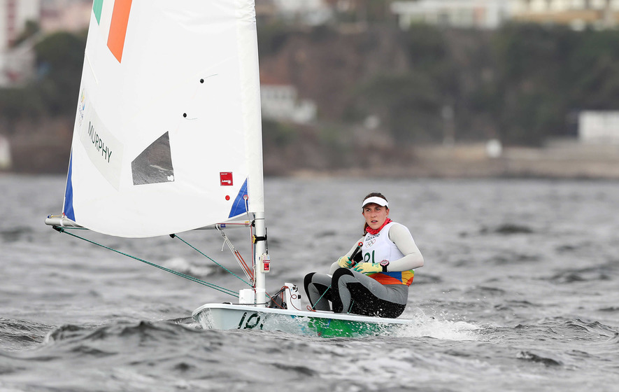 Annalise Murphy in gold medal position at Rio Olympics
