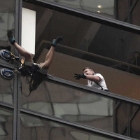 Climber scales tower seeking 'audience' with Donald Trump