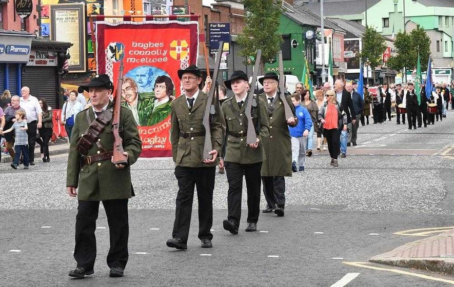 West Belfast march commemorates hunger strikers