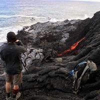 Volcano lava from Big Island hits Hawaiian sea