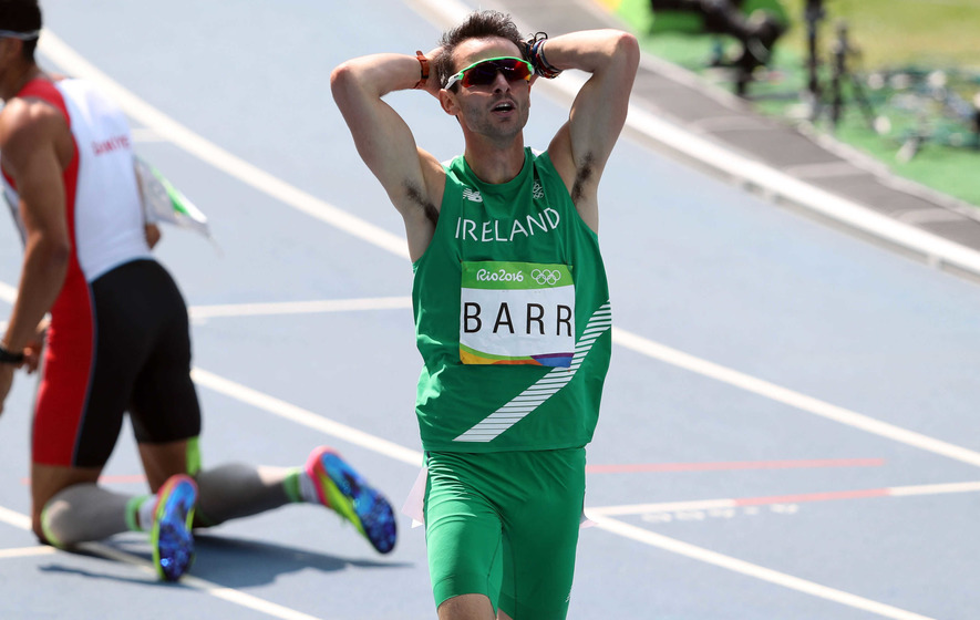 Thomas Barr misses medals by five hundredths of a second