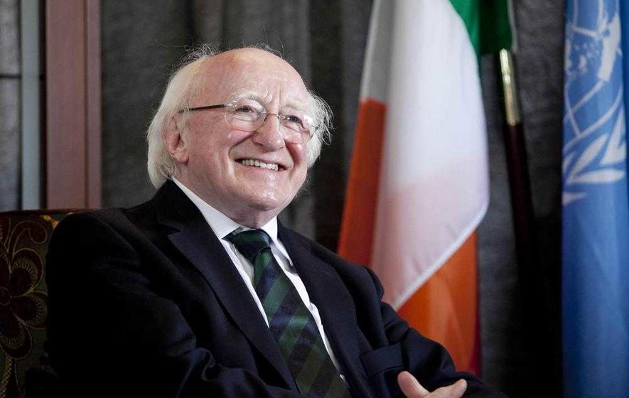 Michael D Higgins pays tribute to Michael Collins at Béal na mBláth commemoration